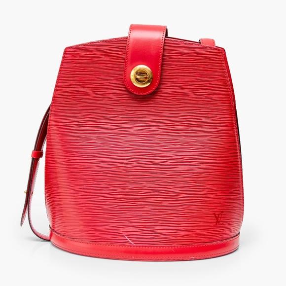 2ffd5c830f70 Louis Vuitton Handbags - Cluny Vintage Red EPI Leather Shoulder Bag
